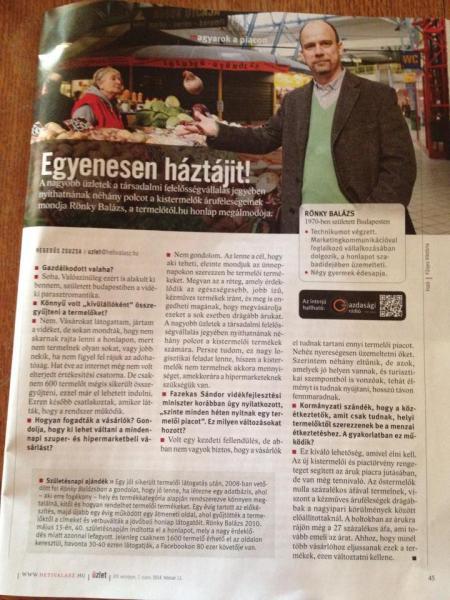 Rönky Balázs interjú a Heti Válaszban